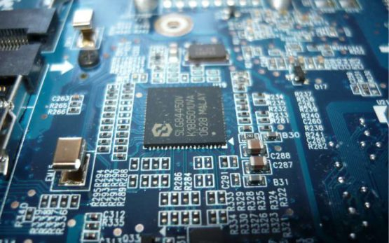 electronic circuit board detail